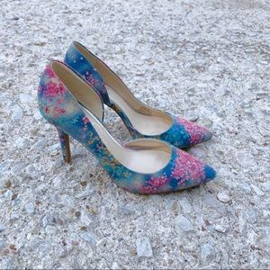 JESSICA SIMPSON floral print pumps heels size 6.5